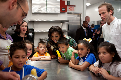 Young chefs with the First Lady