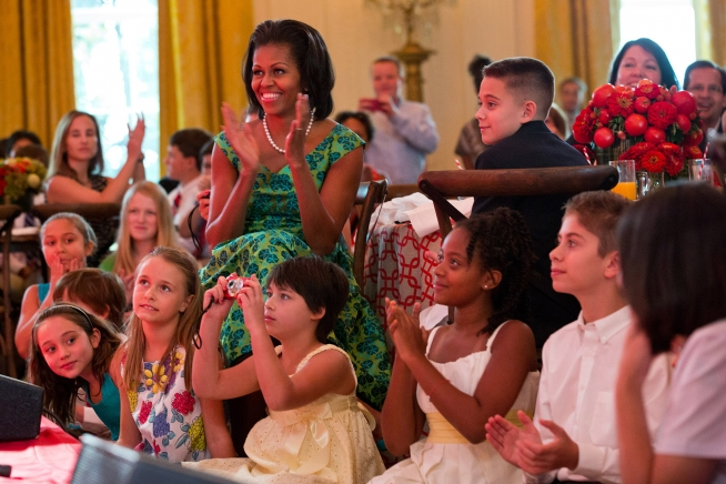 First Lady Michelle Obama at the First-ever Kids' State Dinner