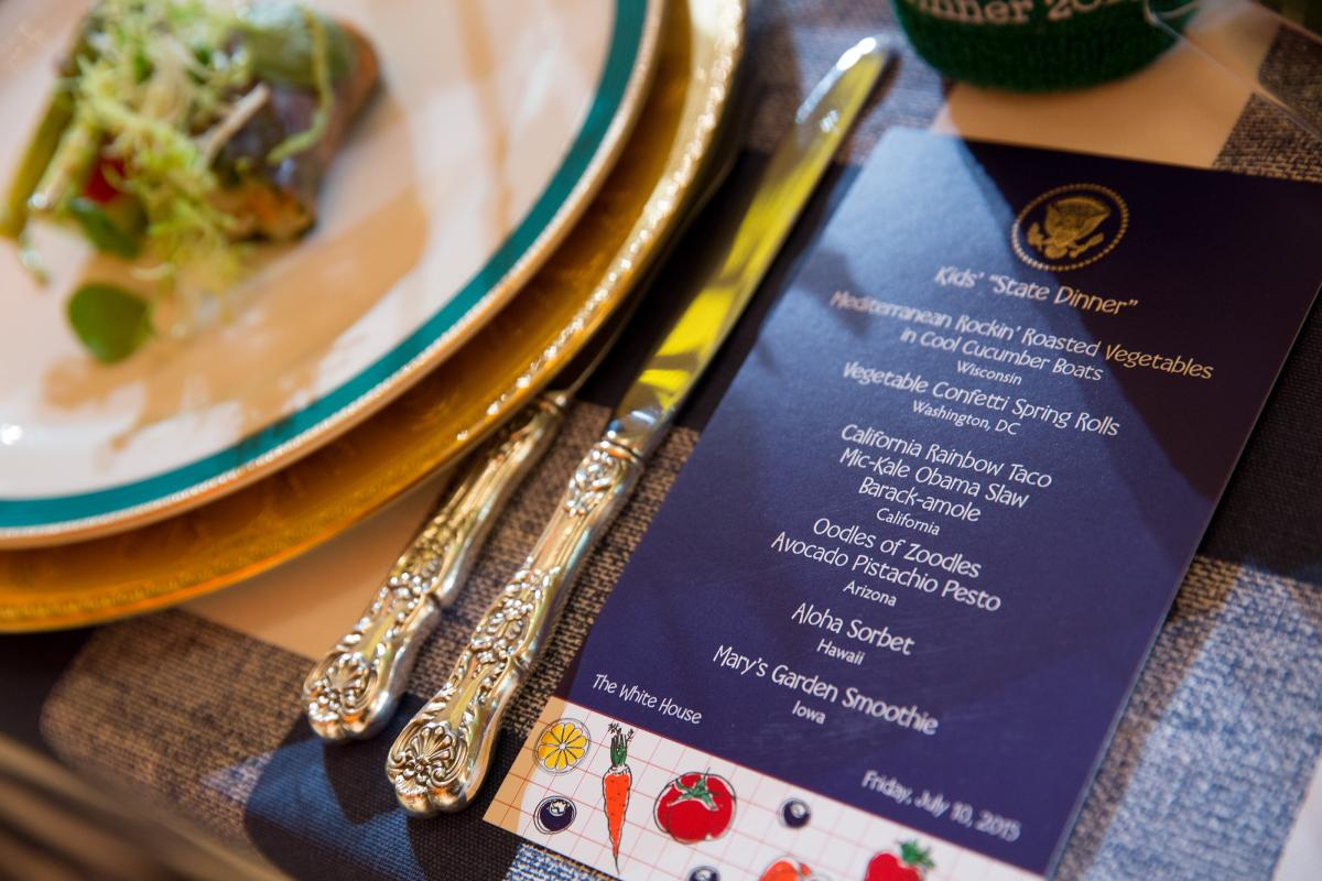 Washington state government for kids - The Dinner Menu At The Kids State Dinner In The East Room Of The White House Hosted By The First Lady July 10 2015 Official White House Photo By Amanda