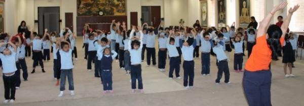 DAV Montessori Students during the 2012 Health for Humanity Yogathon