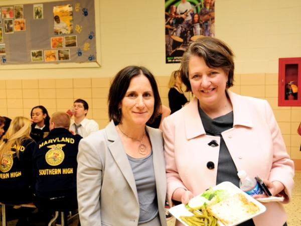 Lunchtime at Southern High School with Deputy Secretary Merrigan and Deborah Kane