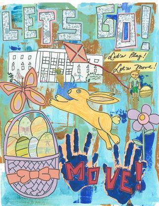 2012 Easter Egg Roll Program Cover Art
