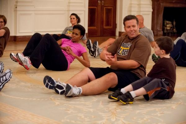 The First Lady Hosts A Biggest Loser Workout
