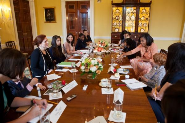 Chatting It Up: FLOTUS Hosts Let's Move Roundtable