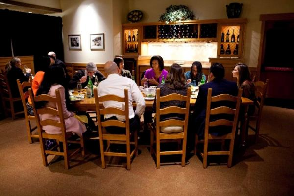 Mrs. Obama Hosts a Healthy Eating Roundtable Discussion