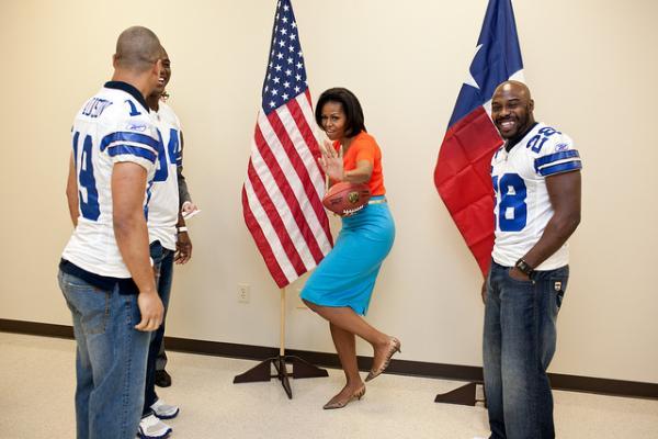 Mrs. Obama Strikes A Pose