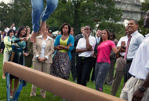 Balancing Act: Gymantistics on the South Lawn