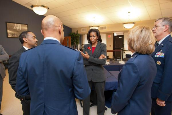 First Lady Michelle Obama on the Let's Move Tour in Little Rock