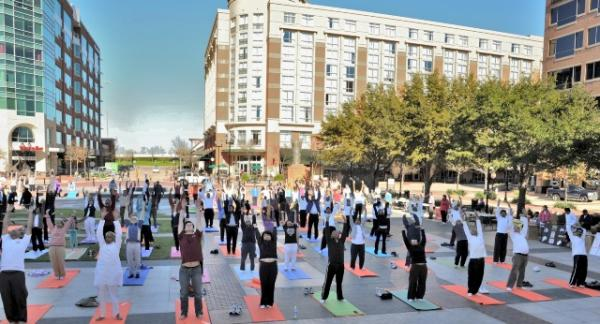 Health for Humanity Yogathon Moves Sugarland, TX