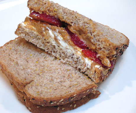 Peanut Butter Berry-Which, sandwich